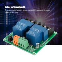2 Channel 5V 30A Relay Switch Module High and Low Level Current Trigger Board