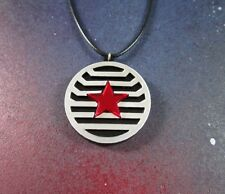 Bucky Barnes Winter Soldier Costume Armor Styled Star Logo Pendant Necklace