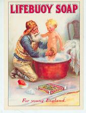 "LIFEBUOY SOAP-FISHERMAN GIVING A CHILD A BATH-ADV-REPRO-4""X6""(DV-404*)"