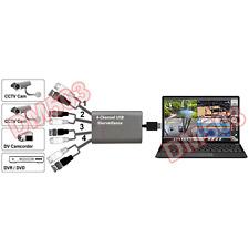 4-Channel PC USB Video Surveillance Recorder Adapter