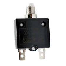 30A 12V-24V Circuit Breaker Push Button Reset with Quick Connect Terminals
