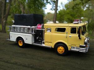 CUSTOM 1/87 HO  1974 CF MACK  PUMPER FIRE TRUCK DIECAST METAL CAB NICE LOOK!!!!!