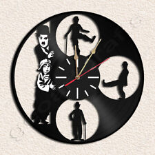 Charlie Chaplin Wall Clock Vinyl Record Clock