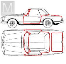 OE Qualität Mercedes SL W113 Pagode 7 Dichtungen Karosserie Pagoda 7 seals body
