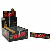 12 x RAW Black Rolling Papers King Size Slim Classic Natural Unrefined 110mm
