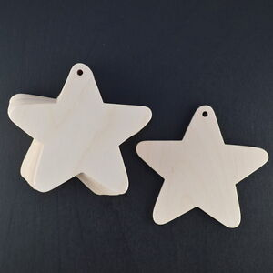 WOODEN STARS CRAFT SHAPES BIRCH PLYWOOD 90mm BUNTINGS/GARLANDS WEDDING FAVOURS