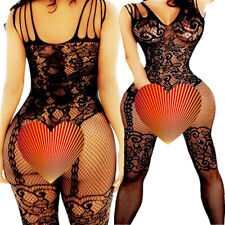 Fishnet Body Stockings Babydoll Sleepwear New Bodysuit Lingerie Adult Women's