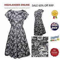 #SundayMarket Pinup Swing Retro Vintage Flora  Dress Casual  Size 8 10 12