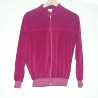 Vintage Target Womens Maroon Zip Sweater Jacket Sz 12 Made In AUS Elastic Waist
