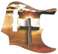 J Jazz Bass Pickguard Custom Fender Graphic Graphical Guitar Cross in the Sky
