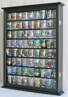 72  Shot Glass Shooter Display Case Rack Wall Cabinet Shadow Box SC13-BLA