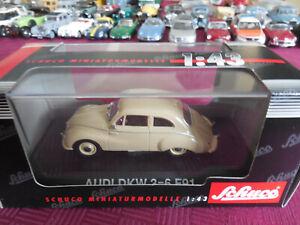 DKW Auto Union 3=6 F94 Sockel und Vitrine 1//43 Atlas Sonderangebot Modell Auto m