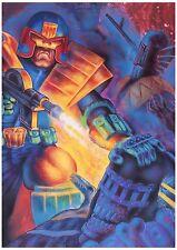 Judge Dredd vs Judge Death ORIGINAL acrylic illustration art