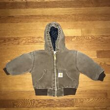 Carhartt Toddler Boy's Hooded Quilt Lined Jacket Size 2T
