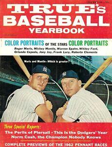 1962 Mickey Mantle, Roger Maris - True's Baseball Yearbook