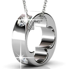 RING PENDANT NECKLACE FT CRYSTALS FROM SWAROVSKI KCN818WG