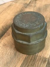 Antique Solid Brass Cartwheel Carriage Hub Cap W Ball & Son Ltd Rothwell e