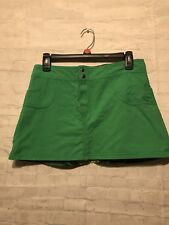 WOMENS SIZE S SURF LINE HAWAII GREEN & YELLOW FLORAL NYLON PRINT MINI SKIRT