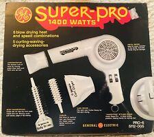 Vintage 1970s GE Super-Pro hair dryer.