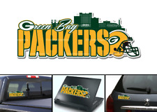 Green Bay Packers Skyline Bumper Window Vinyl Decal 8x3