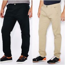 Men's Brave Soul Armstrong Stretch Slim Fit Chinos Trousers RRP £29.99