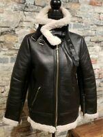 Zara Faux Leather Bomber Moto Jacket Black Xtra Small