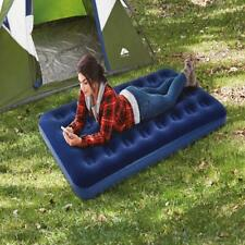 Twin Size Outdoor Adventures Camping Inflatable Air Mattress Bed Coil Beam Blue