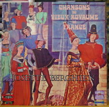 "JOSETTE BERGHIEN ""CHANSONS DU VIEUX ROYAUME DE FRANCE"" FRENCH LP VOGUE"