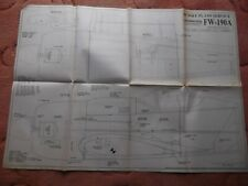 "RCM&E Plans of the FW190A a scale WW2 fighter model of 60"" wingspan"