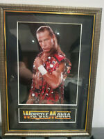 Shawn Michaels Heartbreak Kid Mounted & Framed Retro Memorabilia Retro Wrestling
