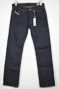 RRP€150 DIESEL LARKEE 0802A Men W29/L32 Straight Fit Raw Denim Jeans 14622