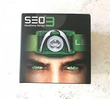 Ledlenser Seo 3 Linterna Frontal Luz de Cabeza Verde Blanco 6003