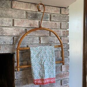 Boho Woven Wicker Rattan Wall Towel Hanger