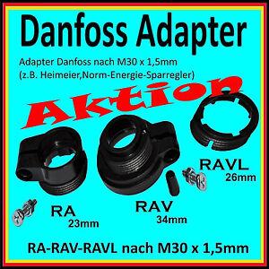 ⭐️ 💯% 🔝 Adapter Danfoss für Heizkörperthermostate RAVL-26mm RAV-34mm RA-23mm