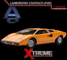 AUTOART 74647 1:18 LAMBORGHINI COUNTACH LP400 ORANGE DIECAST SUPERCAR MODEL CAR