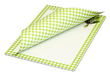 """Schreibblock Briefblock Motivpapier DIN A4 / 50 Blatt / karo  """"Maiglöckchen"""""""