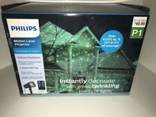 PHILIPS Motion Laser Projector Green Twinkling Dot Pattern Indoor/Outdoor Remote