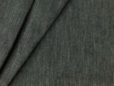 Designer Drapery Upholstery Fabric Striped Tweed Textured Chenille - Gray Blue