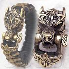 CooB Bronze Paracord Buckle Shackle Lock CELTIC WOLF FENRIR for Bracelet Bead