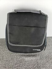 Nintendo DS Soft Carry Case Black Gray Shoulder Bag Strap Mario Luigi Yoshi Game
