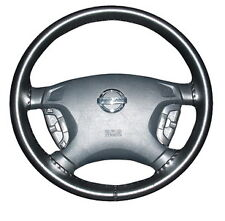 BLACK 2001 Mazda Tribute Genuine Leather Steering Wheel Cover Wheelskins AXX