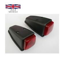 2 X RED SIDE MARKER ROOF CABIN LAMP INDICATOR TRUCK BUS PICK UP E-MARKED VAN CE