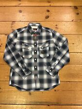 Duck And Cover Gamba Longsleeve Check Shirt/prussian Blue/size M