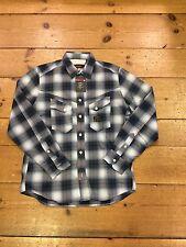 Duck and Cover Gamba maniche lunghe Check camicia/Blu di Prussia/Taglia XXL