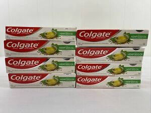 Lot Of 8 Colgate Anticavity Fluoride Toothpaste With Hempseed & Peppermint Oil