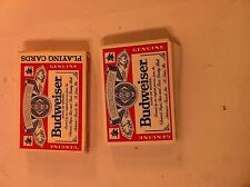 Budweiser Playing Cards-United States Card Co-Plastic Coated-Complete-Free Ship