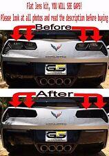 C7 Corvette Rear FLAT DESIGN Tail Light Blackout lens Kit ( Smoked Covers )