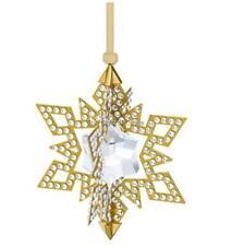 SWAROVSKI Natale Ornamento, Stella, Gold Tone 5135809 Nuovo di zecca Boxed RITIRATO RARO
