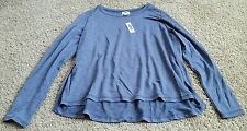 NWT Old Navy Shirt size large L - blue/lost at sea navy/long sleeve supersoft