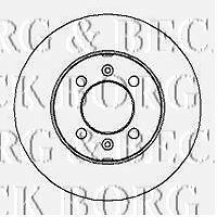 BORG & BECK BBD4204 BRAKE DISC PAIR fit Rover MG metro MGF. 83-